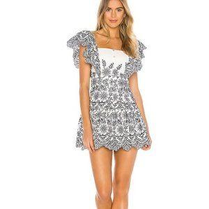 NWT Tularosa Coretta embroidered mini dress